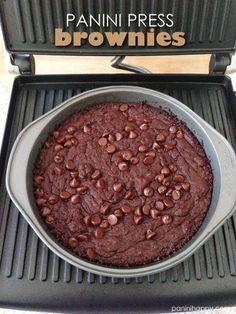 Panini Press Brownies ...get the #recipe at www.paninihappy.com (c) Kathy Strahs