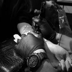 #mybriston by #TattooArtist #RomainKew #briston #watch #clubmaster #classic #chronograph #alpinehunter