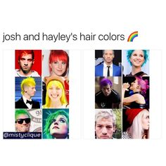 my favorite will always be blue for the both of them.. but i did like green on hayley