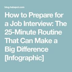 infographic How to Prepare for a Job Interview: The Routine That Can Make a Big Di. Image Description How to Prepare for a Job Interview: The Job Interview Preparation, Interview Answers, Interview Skills, Job Interview Tips, Job Interview Questions, Prepare For Interview, Interview Process, Job Interviews, Job Resume
