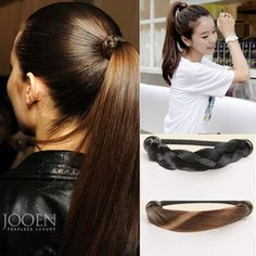 >> Click to Buy << Female Fake Hair Hairbands Korean Style Elastic Hair Beands Accessories Synthetic Wig Ponytail Holder Headwear HW155 #Affiliate