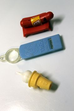 1960's Promotional Toy Whistles - Dairy Queen, Trix, Oscar Mayer