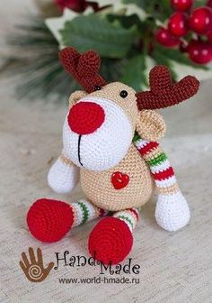 Amigurumi Deer Rudolph-Free Pattern - Amigurumi Free Patterns by beverley