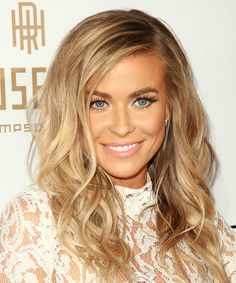 Carmen Electra Hairstyle - Long Wavy Casual - Medium Blonde. Click on the image to try on this hairstyle and view styling steps!