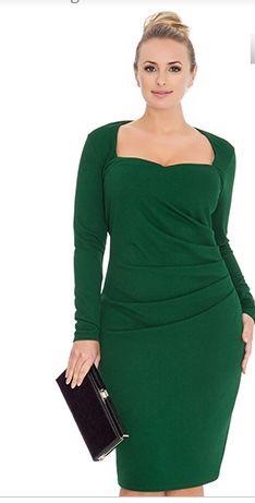Emerald Green Pencil Dress