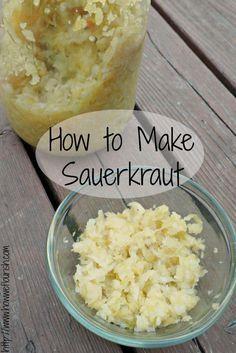 Raw sauerkraut paleo side items grass fed girl pinterest raw how to make sauerkraut homemade sauerkraut recipe how we flourish forumfinder Choice Image
