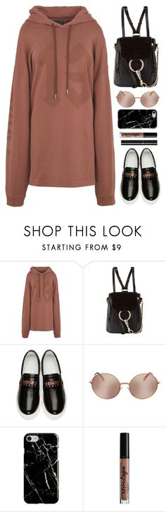"""Casual"" by monmondefou ❤ liked on Polyvore featuring Puma, Chloé, Kenzo, Michael Kors, Recover, NYX, Chanel, black and brown"