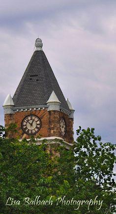 120 yr old Hackley Clock Tower  Muskegon, Michigan Photographed by Lisa Balbach 6/21/2013