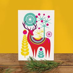 Winter card set Scandinavian Folk card multi pack Christmas