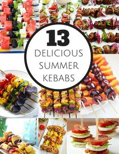 13 Delicious Kid-Friendly Summer Kebabs for Your Summer Grilling. Yummy summer BBQ recipes for the whole family!