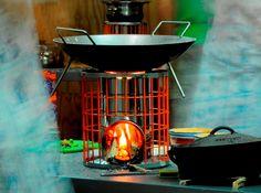 Rocket Works - Gasifying Rocket Stove. Highly efficient wood burning stove.