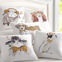 Party Animals Pillow Covers #pbteen