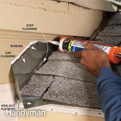 Repair Siding: Use a Kick-Out Flashing to Stop Rot http://www.familyhandyman.com/siding/repair-siding-use-a-kick-out-flashing-to-stop-rot/view-all