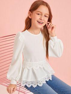 Girls Clothing | Buy Fashion Girls Clothing Online Australia | SHEIN Cute Girl Outfits, Kids Outfits Girls, Little Girl Dresses, Kid Outfits, Girls Fashion Clothes, Tween Fashion, Fashion Outfits, Fashion Children, Baby Dress Design