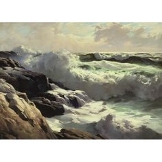 Frederick Waugh - AFTER THE STORM, oil on canvas