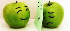 Even apples have their sad days