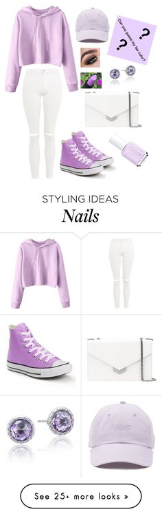 """""""Never too much Purple"""" by lover-of-tea on Polyvore featuring Topshop, Converse, Jimmy Choo, Essie, Vans and Tacori"""
