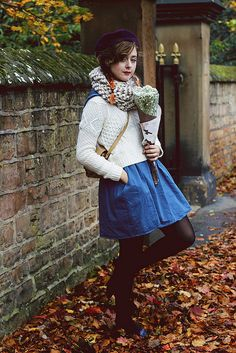Mixing Knits, a Smock and Matching Blue and Orange