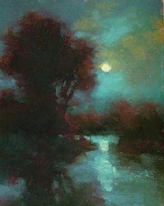 Rising Moon by Teresa Saia Pastel ~ 12 x 9