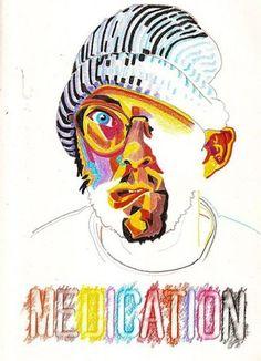 Artist Creates Self Portrait After Taking Different Drug Everyday