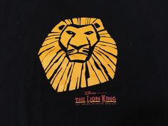 Disney Lion King M Theatre Toronto Ontario Canada T-Shirt Black Medium