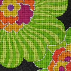 Dream House Ventures design -- Amy's Golden Strand | Flowers / Fruits / Vegetables Canvases | Amy Bunger | Needlepoint