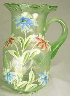Carnival Glass Water Pitcher by Fenton