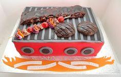 bbq grill cake