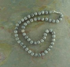 MAP JASPER (Grey Gray Crazy Lace) All natural, undyed and untreated semi-precious gemstones // Grizzly Meadows Jewelry