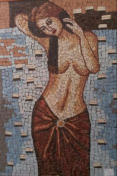 Ekin Sanat Atölyesi Mosaic Portrait, Indian Paintings, Art Object, Painting Patterns, Girl Face, Erotic Art, Art Sketches, The Past, Fantasy