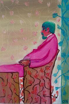 Quero ser Freud Óleo sobre tela  Painel 20 x 30 cm