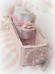 Shabby Pink Vintage Sewing Drawer decorated for the Shabby Chic home