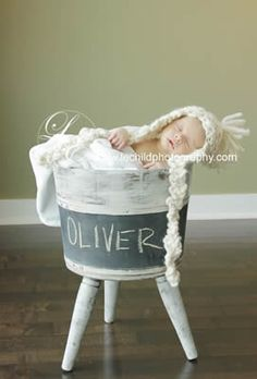 Buckets of Love -  13 Newborn Baby Photography Prop Ideas