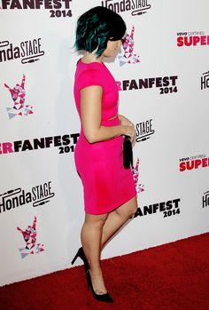 Demi Lovato attends Vevo's first annual VEVO Certified SuperFanFest at The Barker Hangar in Santa Monica, California - October 8, 2014.