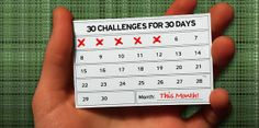 30 Challenges for 30 Days. Create better habits