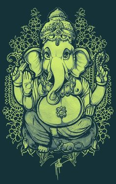 Sages discovered this link of the existent to the nonexistent, having searched in the heart with wisdom. Lord Ganesha Paintings, Ganesha Art, Ganesha Drawing, Shri Ganesh, Indian Gods, Indian Art, Religion Vs Spirituality, Spirituality Quotes, Om Gam Ganapataye Namaha