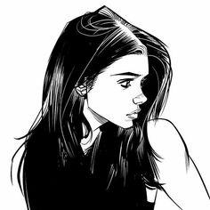 Literally Black and White Line Art Comic Book Maker, Art Du Croquis, Fantasy Magic, Fantasy Art, Bd Art, Illustration Mode, Character Illustration, Comic Styles, Character Drawing
