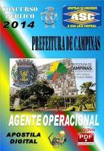 Apostila Concurso Publico Prefeitura de Capinas SP Agente Operacional 2014