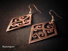 Artizan in cupru Copper Artwork, Artisan, Handmade Jewelry, Deviantart, Drop Earrings, Abstract, Mai, Romania, Manual