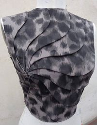 Innovative Pattern Cutting - spiral bodice design; fabric manipulation; creative sewing inspiration