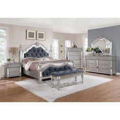 Innovative Tufted Bedroom Set Interior