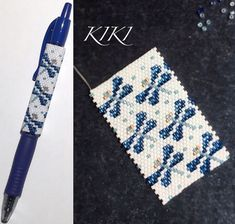 My dragonflies peyote pen cover is ready For G2 pen by Pilot This pattern is available at: www.kikisbeads.com/dragonflies #beaded #dragonflies #dragonfly #spring #inspired #beaded wrap #pencover #beadwork #peyote #mydesign #gift #unique #handmade #g2 #pen #net #designofmine #peyotestitch #beads #handmade #handmadegift #mydesign #penwrap #g2pen #peyotestitched #beadpattern #mydesign #beadaddict #seedbeads #delica #miyukibeads #seedbeads