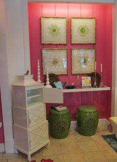 Chinoiserie Chic: Pink and Green Chinoiserie