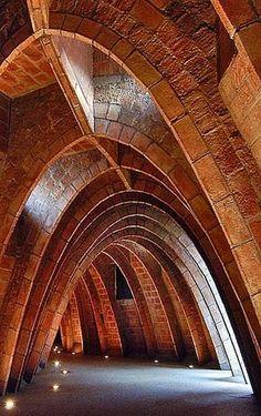 Antoni Gaudí. Desvanes casa Milà. Barcelona. Catalunya.(España)