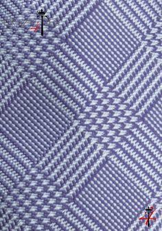 Particolare Tessuto Cravatta Principe di Galles in Seta Jacquard Viola e Celeste