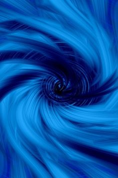 Blue Blue Blue! Abstract blue funnel