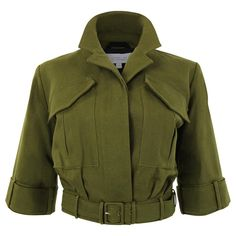 Military is having a big moment this spring. What better way to join the trend than with a super chic, year-round cropped jacket. Layered over a t-shirt with your favorite denim or dressed up with a f