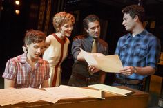 HITMAKERS: (L-R) Jessie Mueller, Anika Larson, Jarrod Spector, & Jake Epstein in 'Beautiful - The Carole King Musical.' Photo: Joan Marcus