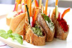Veggies + Dips + Baguettes
