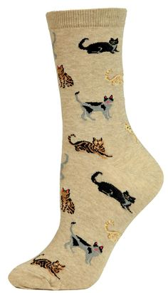 Hot Sox Originals Classic Cats Crew Socks